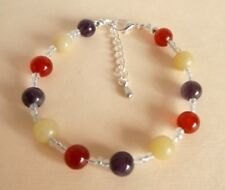 Gemstone Crystal Healing ME CFS Chronic Fatigue Syndrome Recovery Bracelet