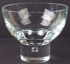 Crystal Glass Bowl Vase Air Bubble Base Danish Styling Perfect 6in Diam R