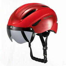 ROCKBROS Cycling Helmet Riding Sport Helmet with Magnetic Goggle 57-62cm Red