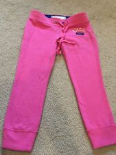 Abercrombie and Fitch Girls Jogger Skinny Crop Sweatpants Pink Size L EUC