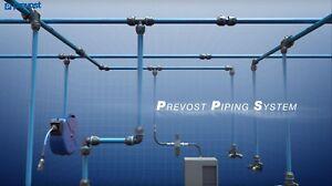 "Prevost Aluminium Piping System 1/2"" 3/4"" 1"" 1-1/2"" 2"" NPT Guarantee Leak Free"