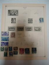 Vintage Italy Postage Stamps 1923-1925 On Page Lot of 15
