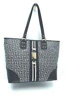 TOMMY HILFIGER Women's Handbag Tote*Black/White Shoulder Purse New $99