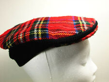 Vintage News Boy Hat Red Plaid By Colley Hand Tailored In England