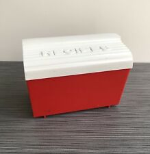 Robin Hood Flour Promotional Recipe Box Red White Plastic