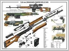 "Poster 12""x18"" Russian SVD Dragunov Sniper Rifle Manual Exploded Parts Diagram"