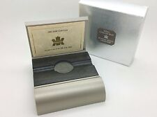 2001 Royal Canadian Mint $100 Gold Proof Coin Metal Gray Wood Empty Box COA