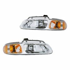 Fits 96-99 Town&Country Caravan Driver Passenger Headlight Lamp Assembly 1 Pair