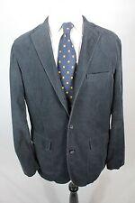 J. Crew Blazer Navy Blue Mens 3 Button Single Vent Size Large Suit Jacket Coat