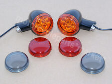 Black Rear Turn Signals Lights W/ Brackets For Harley Sportster XL 883 1200 New