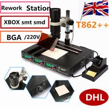 T 862+ + infrarrojos estación de retrabajo BGA SMD SMT IRDA soldadura máquina de soldar