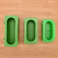 Plastic Green Food Water Bowl Cups Parrot Bird Pigeons Cage Cup Feeder Feeding..
