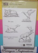 NEW Stampin Up THE WILDERNESS AWAITS Stamps Dog Fox Duck Elk Deer Animals