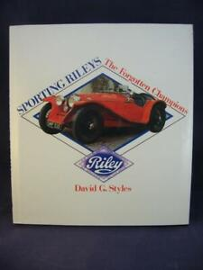 Sporting Rileys The Forgotten Champions - D G Styles - Hardcover - VG
