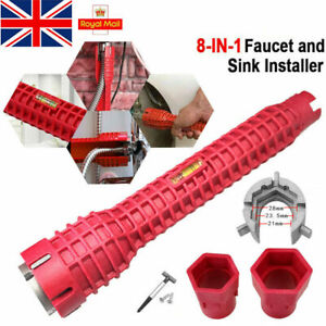 8 In 1 Multifunction Sink Basin Faucet Wrench Sink Install Tool Tap Spanner UK