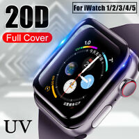 UV Liquid Tempered Glass Screen Protector For Apple Watch iWatch 5 4 3 2 1 ES