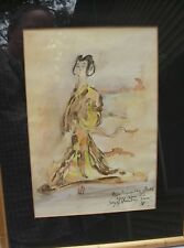 Fine Newton Haydn STUBBING Watercolor BALLET COSTUME DESIGN-Dated 1957