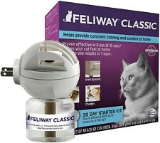 New listing Nib Feliway Classic 30 Day Starter Kit Plug-In Diffuser & Refill for Cat, 48 ml.