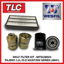 WK47 Air Oil Fuel Filter Kit Mitsubishi Pajero 3.2L Di-D NS NT NW Diesel 4M41