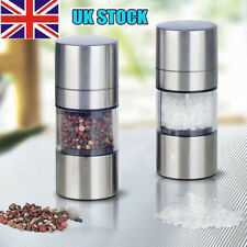 Premium Salt and Pepper Grinder Set - Best Stainless Steel Mill For Cooking PS