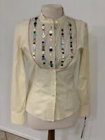 Alexander McQueen '05 Collection Blouse W/Buttons Ornamentation-44 W/Tags-Unworn
