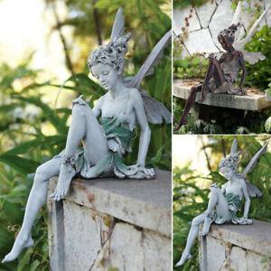 Tudor And Turek Sitting Fairy Statue Garden Ornament Resin Craft Landscaping New