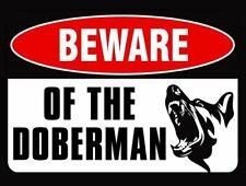 4x5 inch Beware of The Doberman Sticker (Warning Caution Dog Breed Pinscher)
