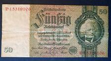 50 Reichsmark 1933 ,  Umlaufspuren , gefaltet