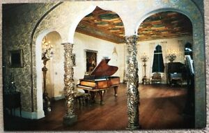 Vintage Postcard Ringling Residence Sarasota Florida Ballroom, Showing Glimpse