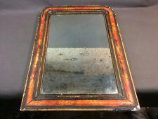 Ancien miroir années 1950 vintage en bois et platre french antique mirror