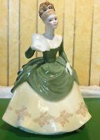 ROYAL DOULTON LADY SOIREE MODEL No. HN 2312 YELLOW & GREEN DRESS PERFECT