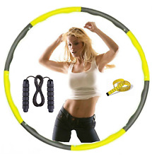 COLLAPSIBLE WEIGHTED HULA HOOP FITNESS SET SKIPPING ROPE EXERCISE GYM WORKOUT