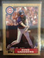 1987 Topps Ryne Sandberg  Chicago Cubs  #680 HOF