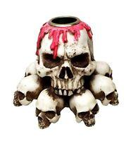 Macabre Poker Skull Poker Face Figurine Statue 11350