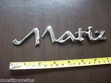 """MATIZ DAEWOO CHEVROLET"" Badge Emblema coreano AUTOMOBILE VEICOLO Chrome brokenm"
