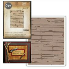 Wood Planks embossing folder - Sizzix Tim Holtz embossing folders 662370