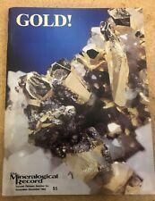 GOLD, The Mineralogical Record, Vol 13, no 6, Nov-Dec 1982