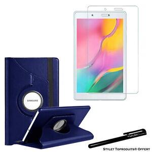 Housse Etui Bleu 360° pour Samsung Galaxy Tab A 8.0 T290 + Vitre de protection