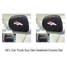 New 2pc NFL Denver Broncos Gear Car Truck Suv Van Headrest Covers Set