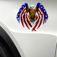 Bald Eagle USA American Flag Car Sticker Auto Truck Laptop Window Bumper Decal
