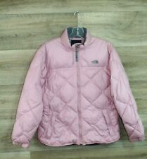 The North Face Youth Girl's Puffer Goose Down Full Zip Coat Jacket Size YOUTH LG