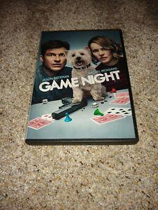 GAME NIGHT (DVD 2018 Widescreen) Jason Bateman and Rachel McAdams