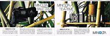 Publicité advertising 1984 (2 pages) Appareil photo Minolta W-700 et AF-Sv
