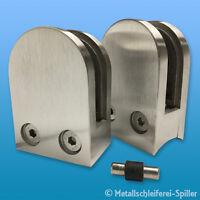 V2A Edelstahl Glashalter rund 63x45mm Sicherungsstift Klemmhalter 1,5-12,76mm