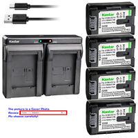 Kastar Battery Dual Charger for JVC BN-VG114 & JVC Everio GZ-HD500SEU GZ-HD620-B
