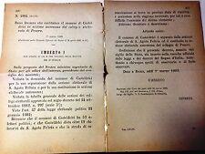 Regio Decreto 1 marzo 1885 Casteldelci sez. autonoma collegio elet. Pesaro-636