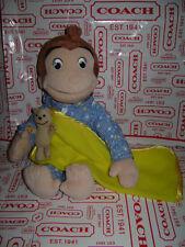 "MARVEL TOYS CURIOUS GEORGE Pajamas Plush PJ 12"" MONKEY BABY STUFFED BROWN LOVELY"