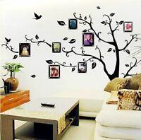 Hot Home Decor Virtul Photo Frame Black Tree Removable Decal Room Wall Sticker