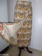 Vintage Studio G Skirt Wrap 100% Silk Floral Lined sz M