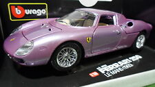 FERRARI 250 LM standox fushia au 1/18 d base BURAGO voiture miniature collection
